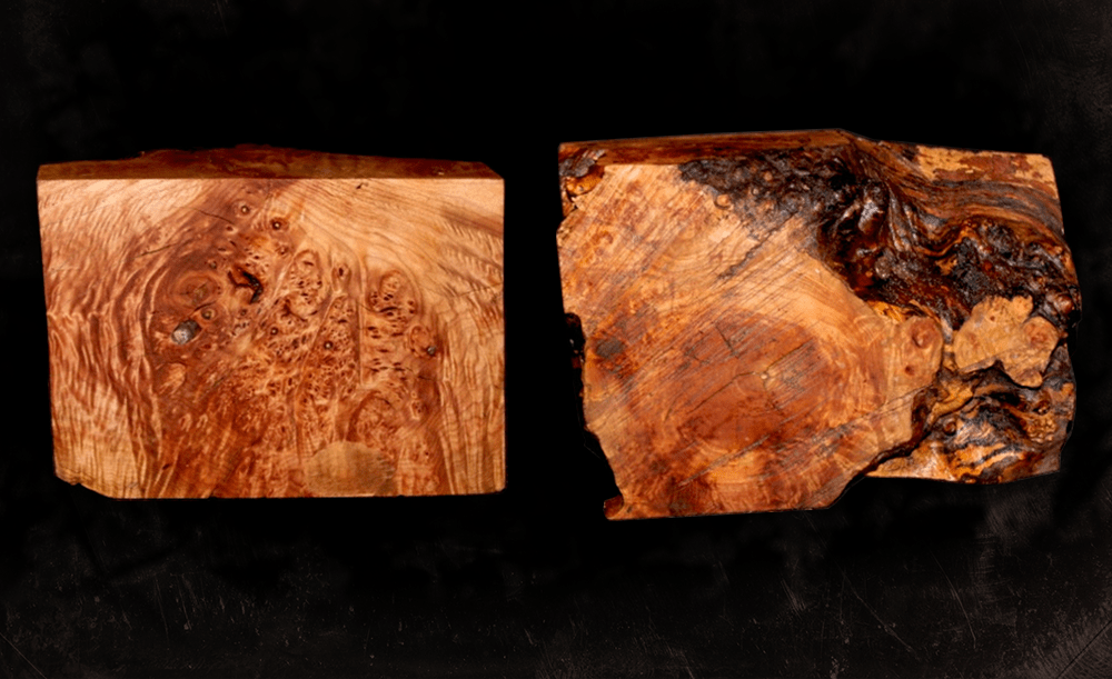 Dva bloky briarového dreva