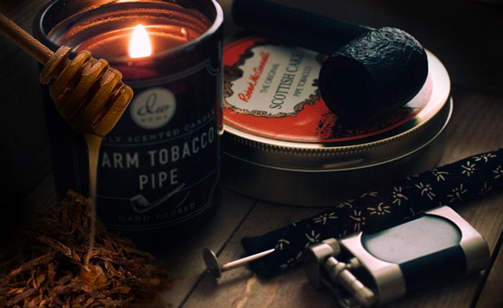 Fajčenie fajky a med idú dokopy.